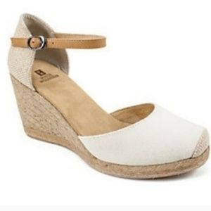white mountain espadrille wedge sandals, shoes 8.5
